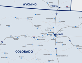 Colorado Wyoming Map Small